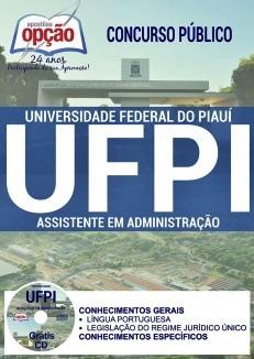 Apostila UFPI 2017 Assistente em Administração