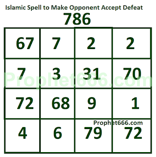 Islamic Voodoo Spell to Make Opponent Accept Defeat