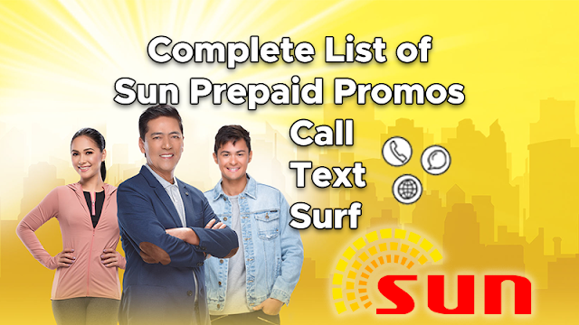 List of Sun Prepaid Promos 2019 - Call, Text and Internet Data