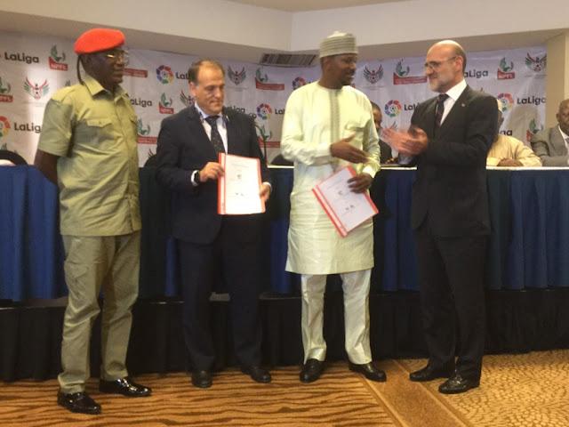 LaLiga firma un acuerdo el fútbol de Nigeria