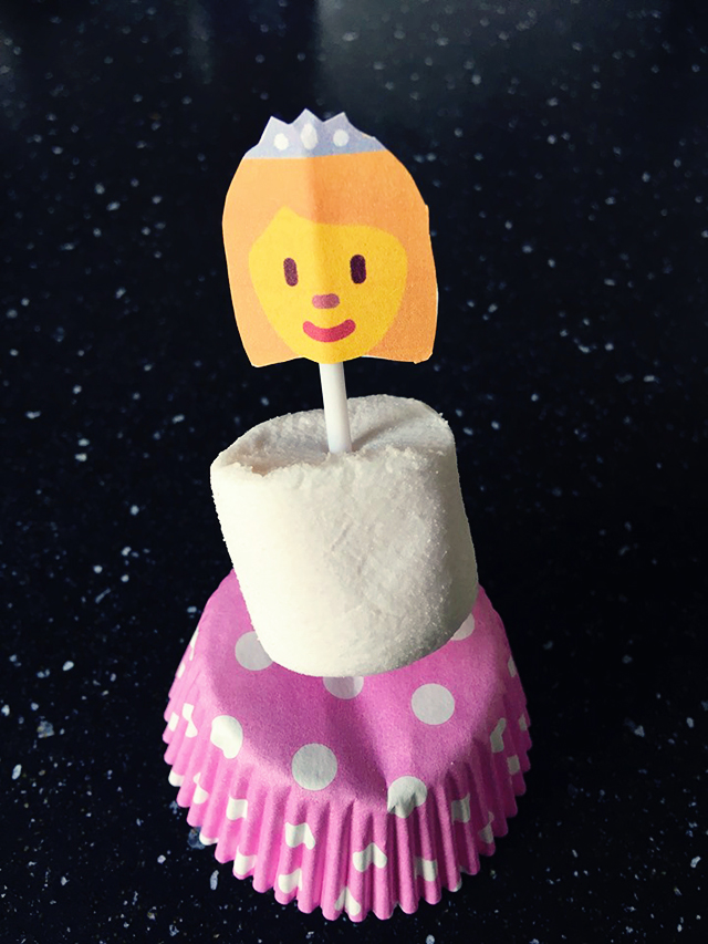 prinsessen traktatie cupcake