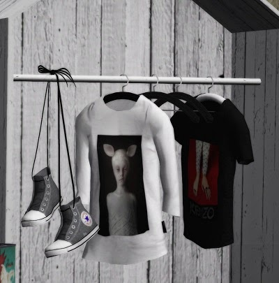 My Sims 3 Blog Hanging Clothes Wardrobe Set by The77sims3