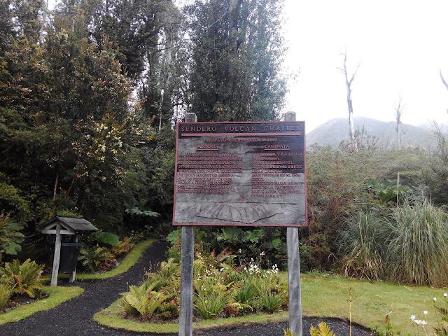 Sendero al volcán Chaitén en Parque Pumalín, Chile