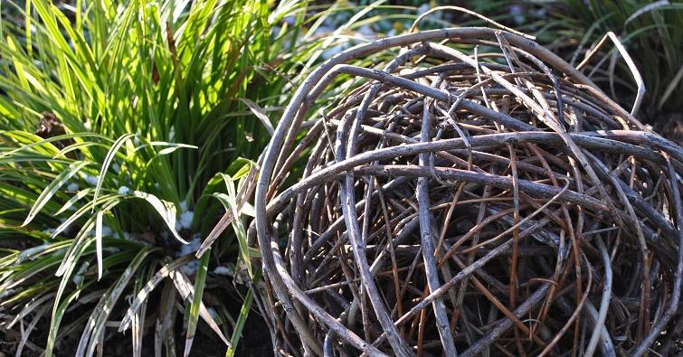 Gartendeko selbermachen Weide