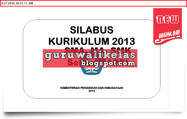 Silabus Kurikulum 2013 Sma Ma Smk Semua Mapel New Update 2016 2017