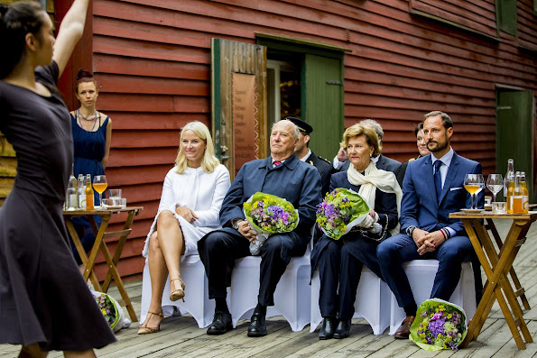 King Harald, Queen Sonja, Crown Princess Mette-Marit, Crown Prince Haakon attend a Garden Party in Bergen