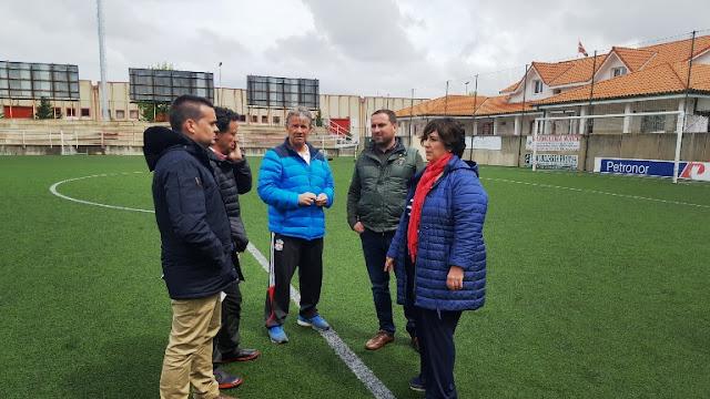 El campo de fútbol de San Miguel estrenará césped en agosto