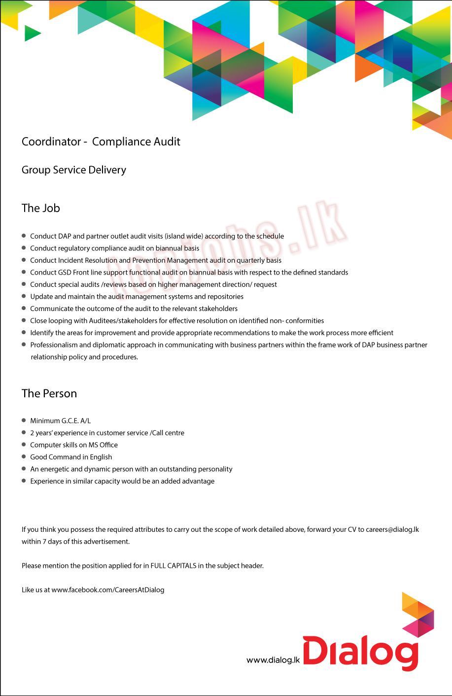 Vacancies in Dialog - OnlineJobs lk