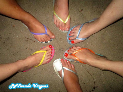 Em Caraíva só se usa chinelo