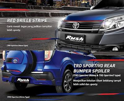Penampilan Eksterior New Toyota Rush TRD Sportivo Ultimo Terbaru 2016