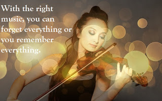 With the right music, you can forget everything or you remember everything.