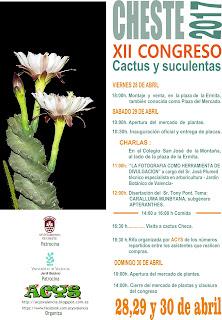 Programa del XII Congreso de Cheste 2017