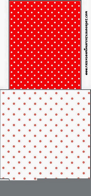 Tea Bag Labels for a Red and White Polka Dots.  Free Printable Red and White Polka Dots Tea Bag Labels.