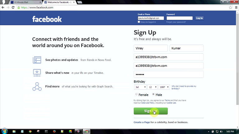 How To Create Fake Facebook Account l Fake Email Generator