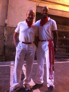 With the late, great, Julen Madina, who taught me to run with the bulls