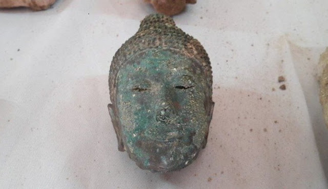 Ancient Buddha statue fragments found in Thailand