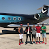 Cristiano Ronaldo Poses With Personalized Nike Jet Before Flying To China