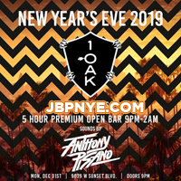 1 OAK LA New Years Event