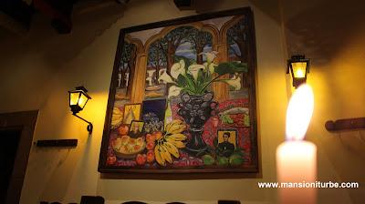 Soledad Tafolla Levorini painting at Restaurante Doña Paca in Pátzcuaro