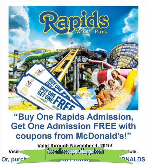 Rapids water park prices coupons