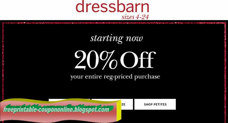 Dress barn coupons printable october 2018