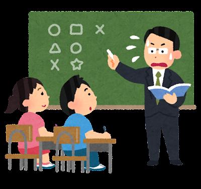 教えるのが下手な先生のイラスト(男性・小学校)