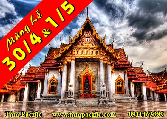 Tour du lịch Thái Lan trong tháng 4 mừng đại lễ 30/4 của Việt Nam