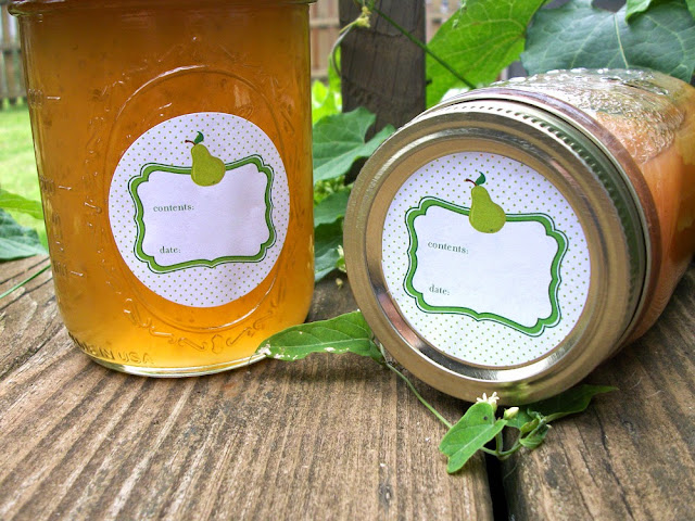 pear canning labels