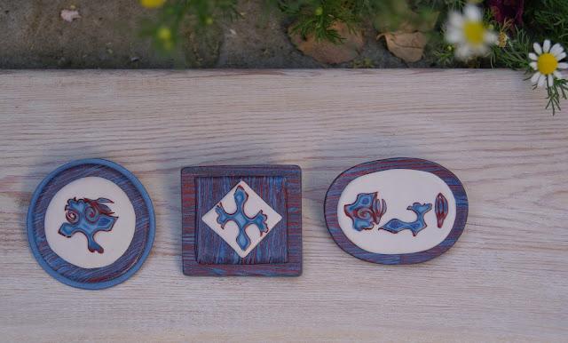 брошка из полимерной глины, украшения из глины, брошь ручной работы, стиль бохо, инди стиль