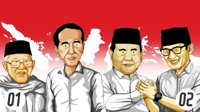 4 Negara Yang Banyak Menyumbang Suara Untuk Prabowo Dan Sandi Di Pilpres 2019
