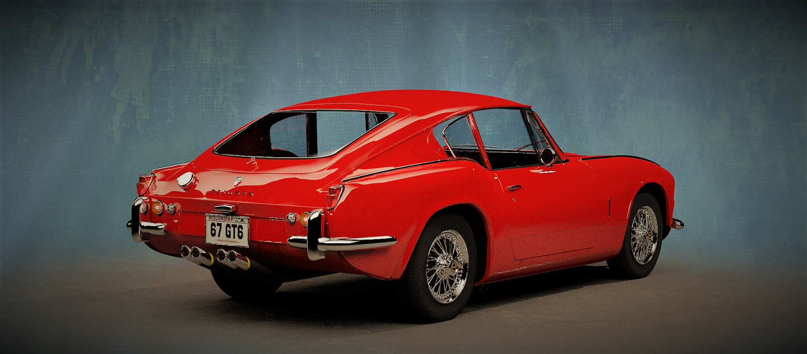 The Tinkers Workshop 1967 Triumph Gt6 Blender Model Is Completed