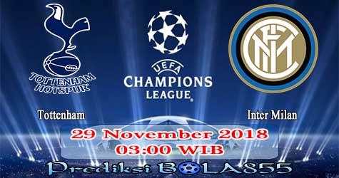 Prediksi Bola855 Tottenham vs Inter Milan 29 November 2018
