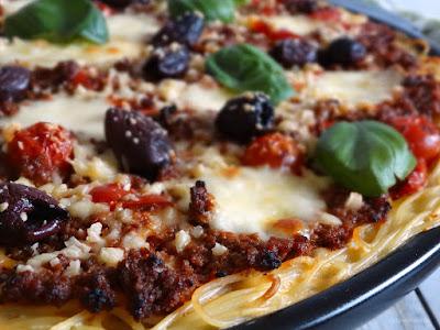 Spaghetti-Pizza