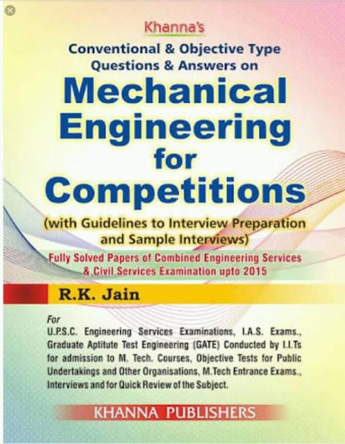 [Pdf] Mechanical Engineering Conventional & Objective QA By R.K. Jain