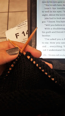 Spent the day knitting and reading at the DMV