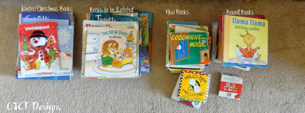 Simple, step by step process used to rotate children's books quarterly using seasons and age level.