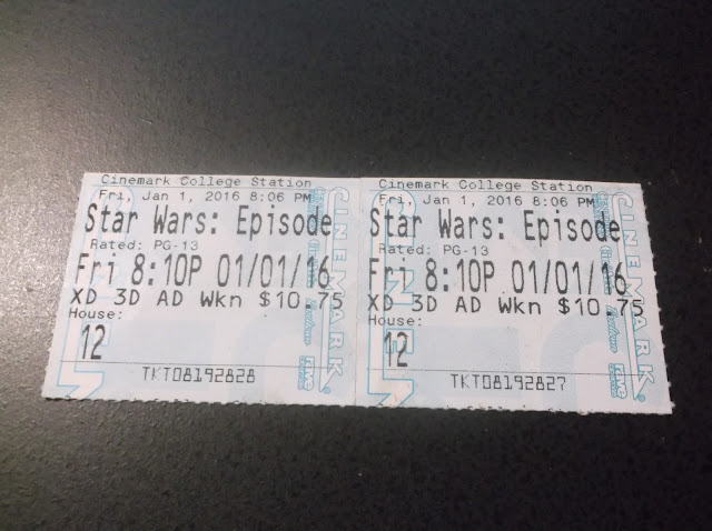 star wars movie ticket