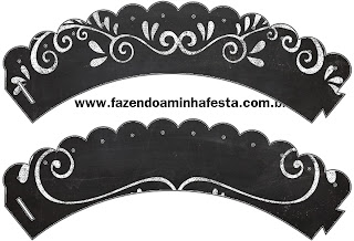 Blackboard Style, Free Printable Cupcake Wrappers.