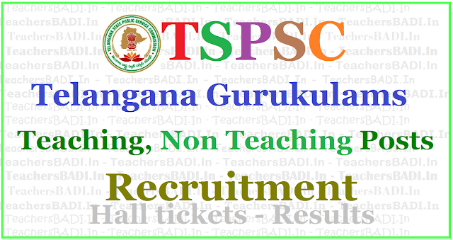 TSPSC Gurukulam Teaching,Non Teaching posts,Recruitment 2017