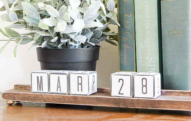 Upcycled Dollar Tree Blocks and DIY Display Ledge