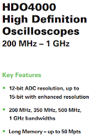 Example of oscilloscope banner specs