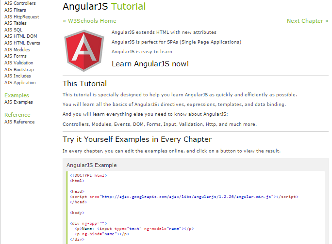 W3schools Angularjs Tutorial Pdf