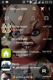 BBM MOD Chucky Doll Theme v2.13.1.14 Apk