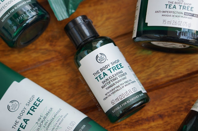 The Body Shop Tea Tree Skin Clearing Mattifying Toner Review Mini Travel Size