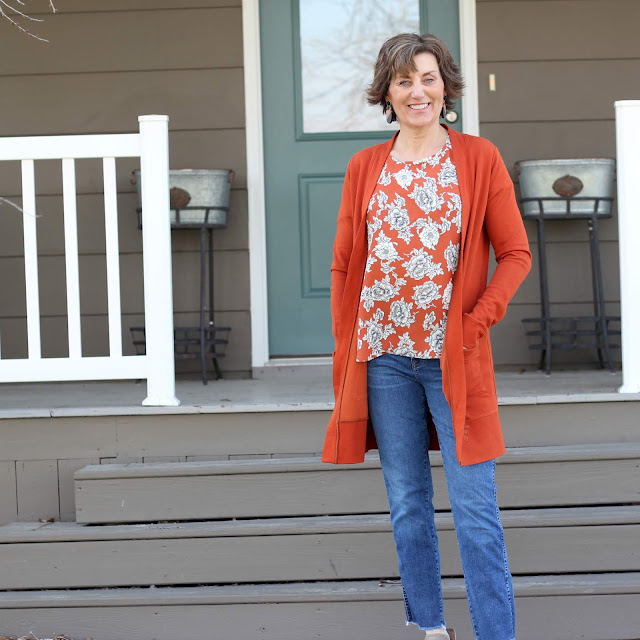 Coram Blouse with Blackwood Cardigan