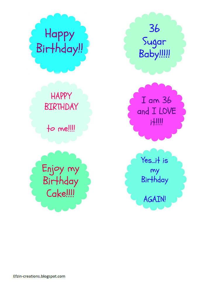 Happy Birthday To Me Ef Zin Creations