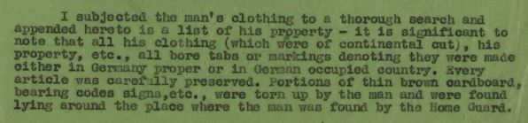 Report by Detective Sergeant Thomas Oliver Mills regarding the capture of Josef Jakobs  (National Archives KV 2/24 - 20b)