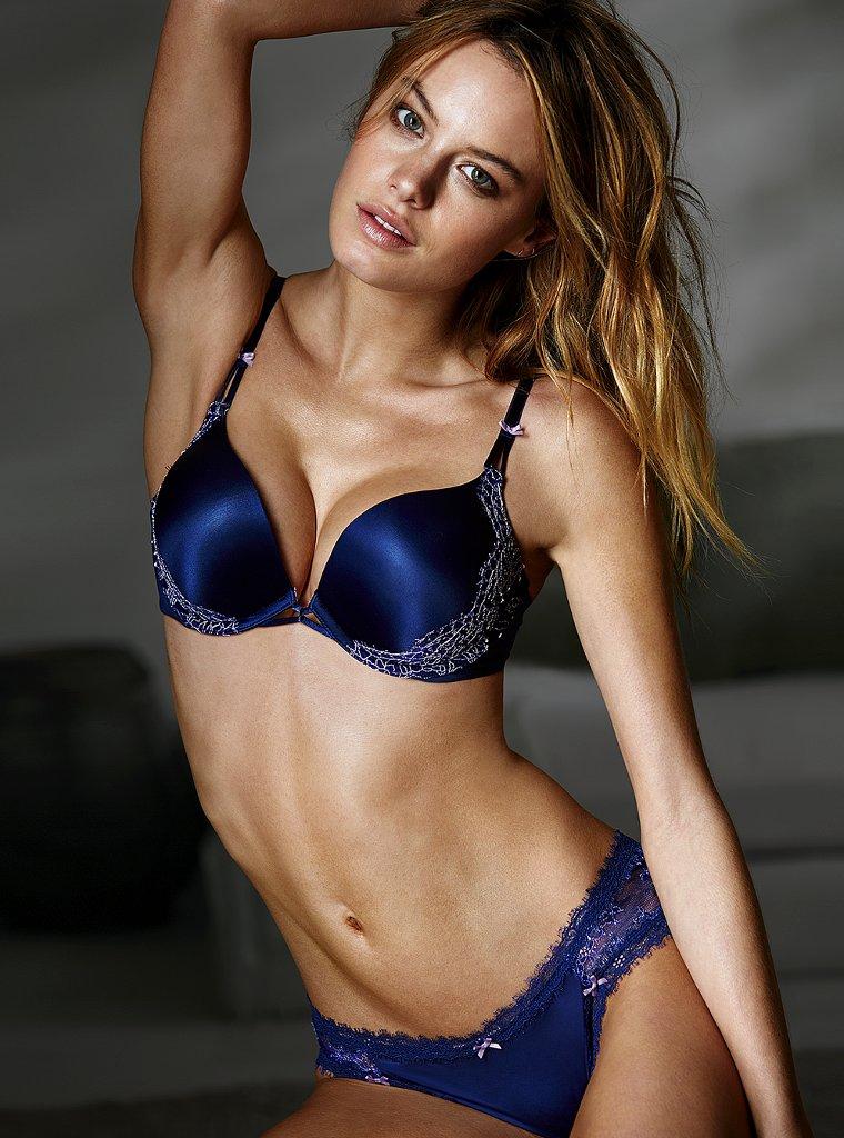 672cc8d18f5 Camille Rowe sexy lingerie photo shoot for Victoria s Secret bra panties