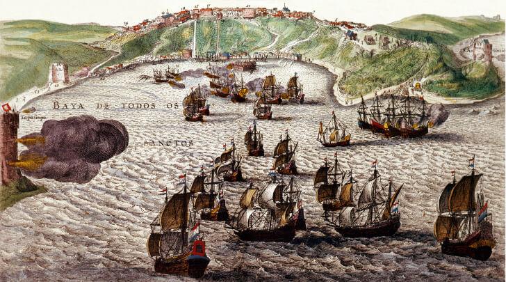 Holandeses invadem a Bahia