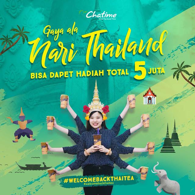 #Chatime - #Promo #Kontes Tarian Tradisional Thailand + Chatime Dapat 5Jt (s.d 17 Maret 2019)